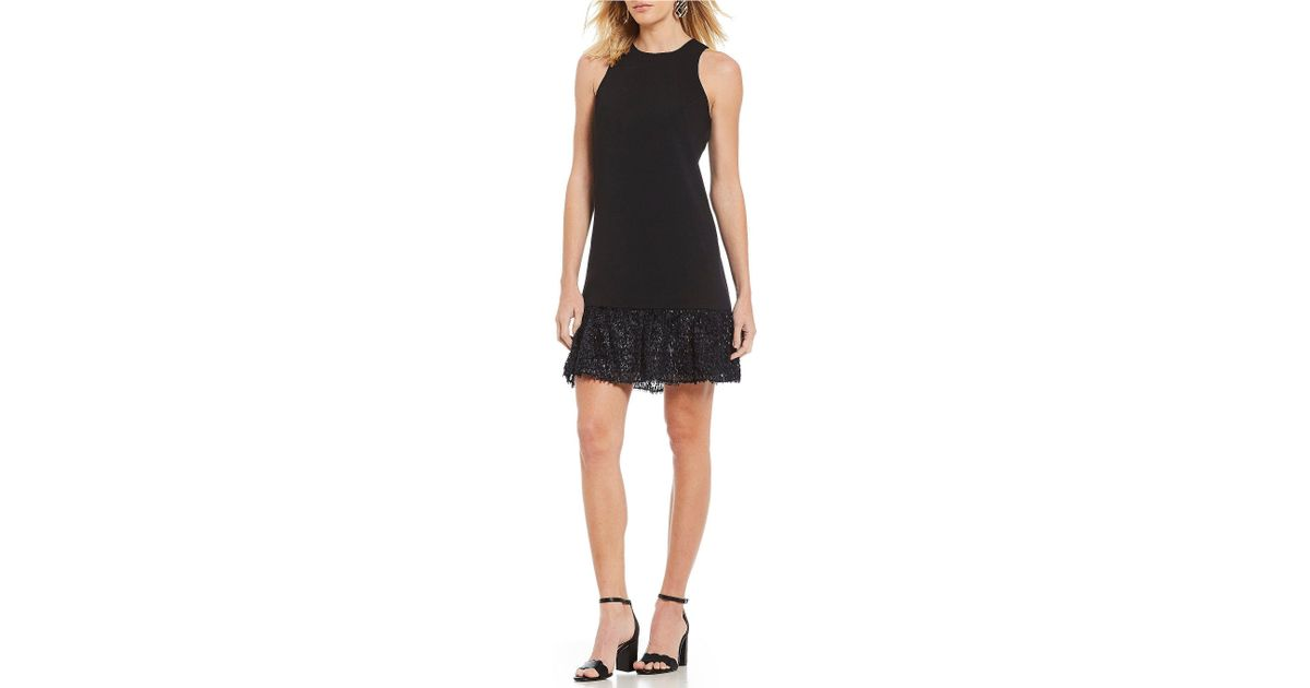 b10d60d165 Lyst - Trina Turk Berry Crepe Drop Waist Dress in Black