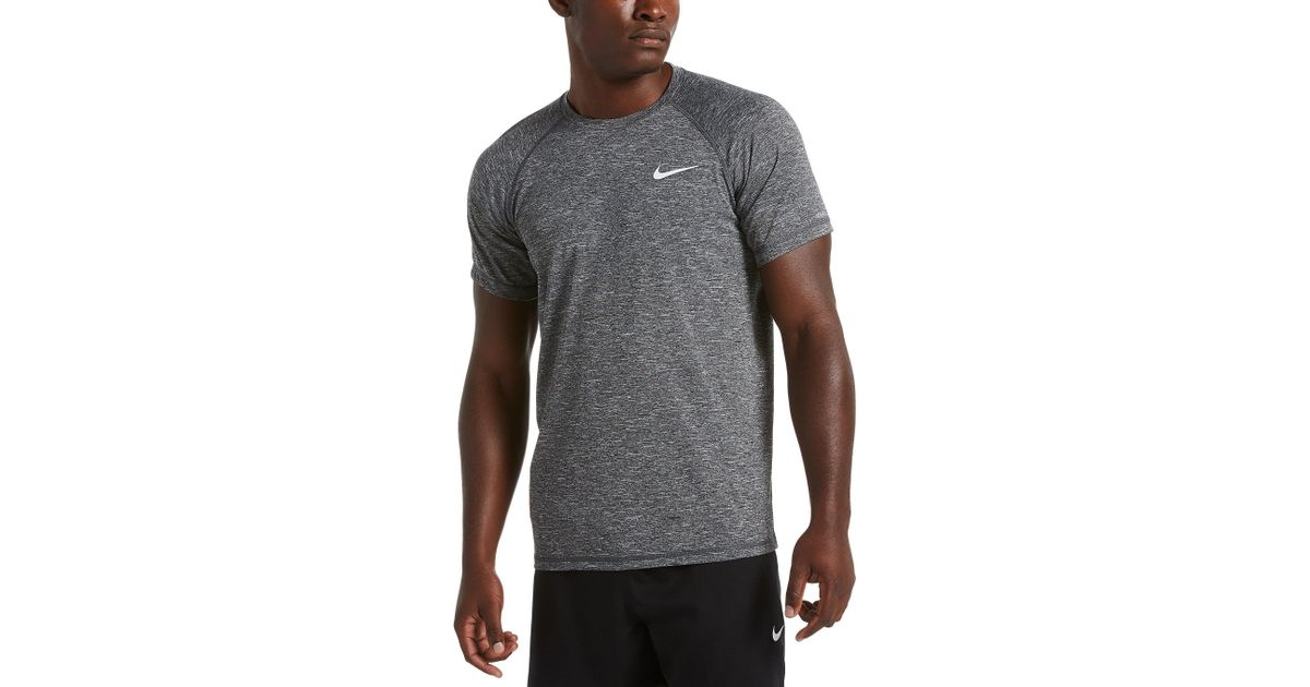 d85495f5 Lyst - Nike Big & Tall Dri-fit Heather Hydroguard Upf 40 Rashguard Swim Tee  in Black for Men