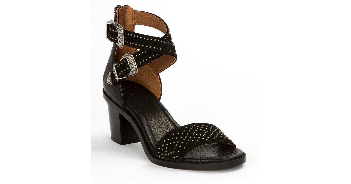 Brielle Suede Stud Detail Western Sandals 52uvXBqk2