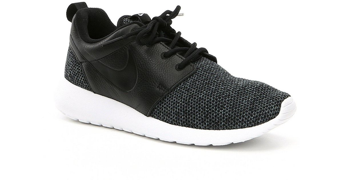00b40261924 Nike - Black Women's Roshe One Knit Lifestyle Shoes for Men - Lyst