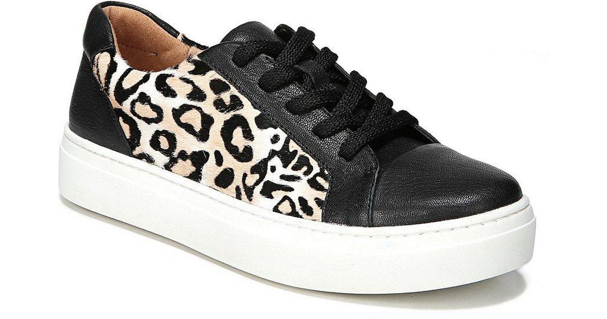 Cairo Cheetah Print Brahma Hair Lace Up Sneakers Z4nz0A