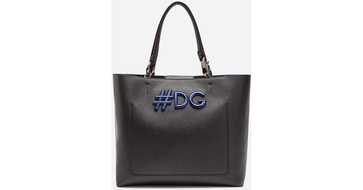 Dolceamp; Cuir Dauphine Cabas De Sac Gabbana Beatrice Veau En Souple mwNn80