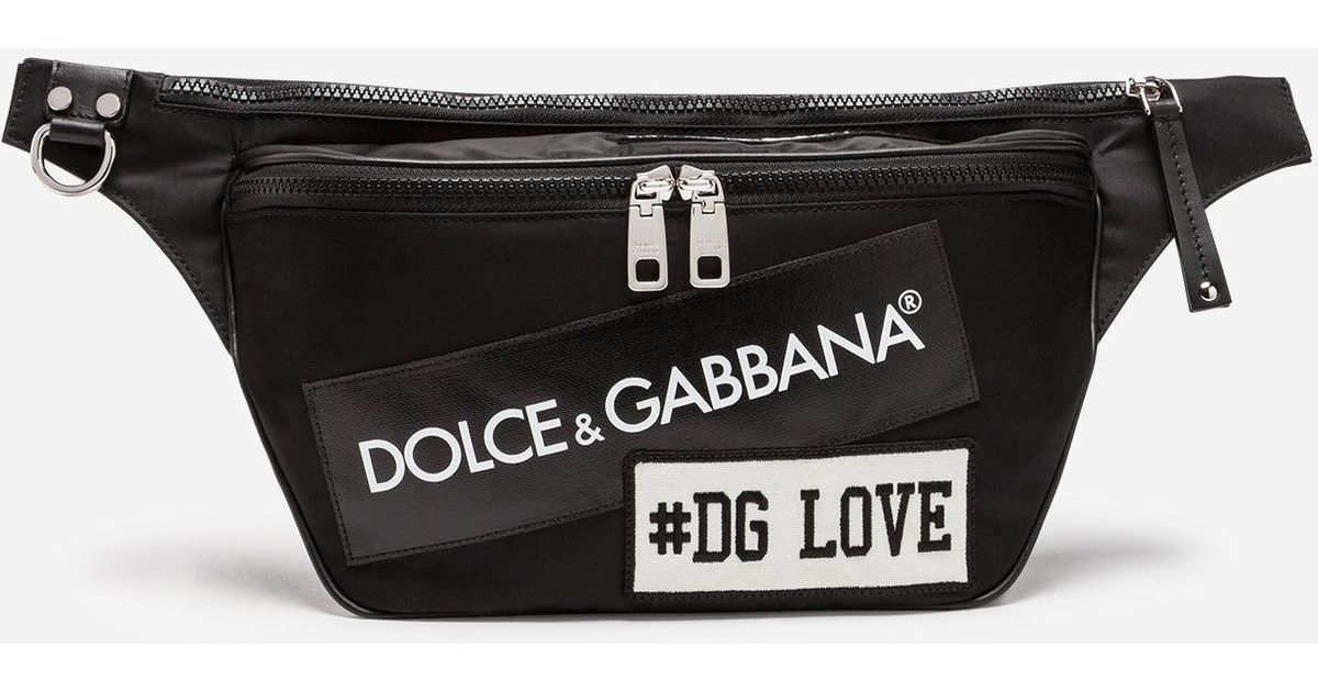 aecb69933960 Dolce & Gabbana Nylon Mediterraneo Fanny Pack With Label Patch in Black for  Men - Lyst