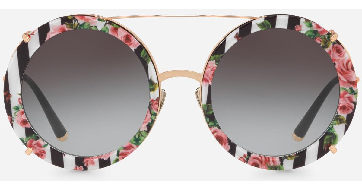 1d968caf793b5 Dolce amp  Clip Gabbana Sunglasses With Lyst In On Gold Round Metal S1dBnqw
