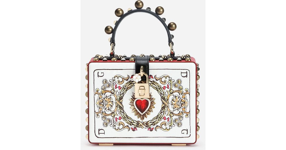 42f839f4c2 Dolce & Gabbana Dolce Box Bag In Printed Dauphine Calfskin With Appliqués -  Lyst