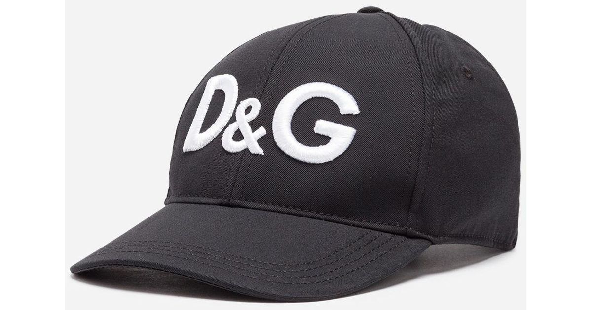 2e3719acf9071f Dolce & Gabbana Baseball Cap In Canvas With Logo in Black for Men - Lyst