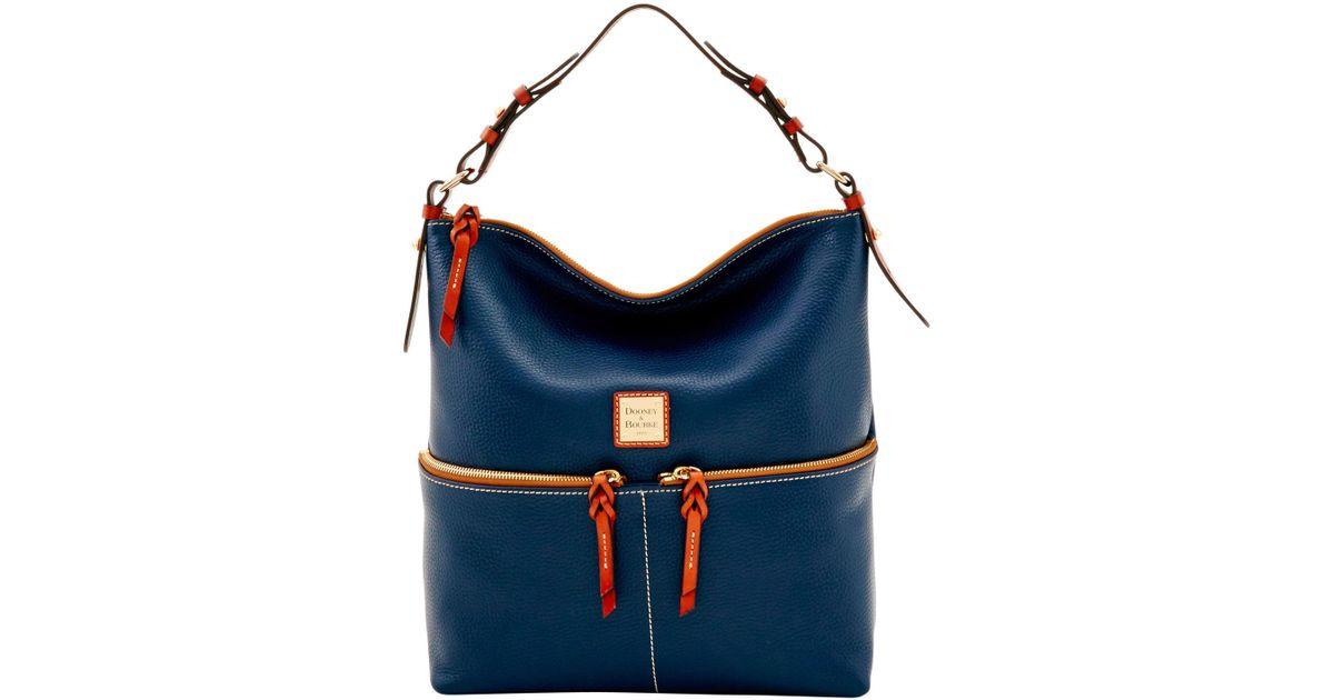 Dooney   Bourke - Blue Pebble Grain Zipper Pocket Sac - Lyst bf65ff00c45ce