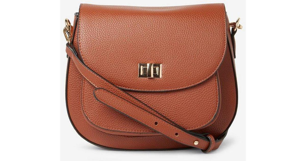 Dorothy Perkins Tan Pocket Front Saddle Crossbody Bag in Brown - Lyst bf3f34b462