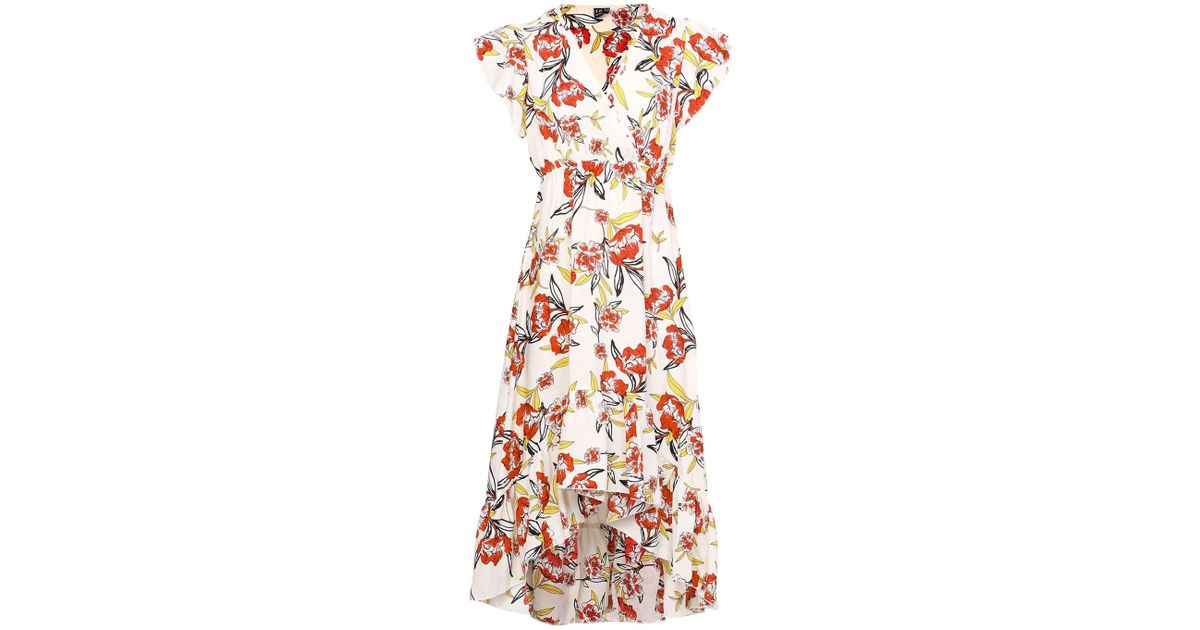 Dorothy Perkins Womens *Izabel London Multi Coloured Floral Print Wrap Midi Dress- For Sale Free Shipping 9LWqSn