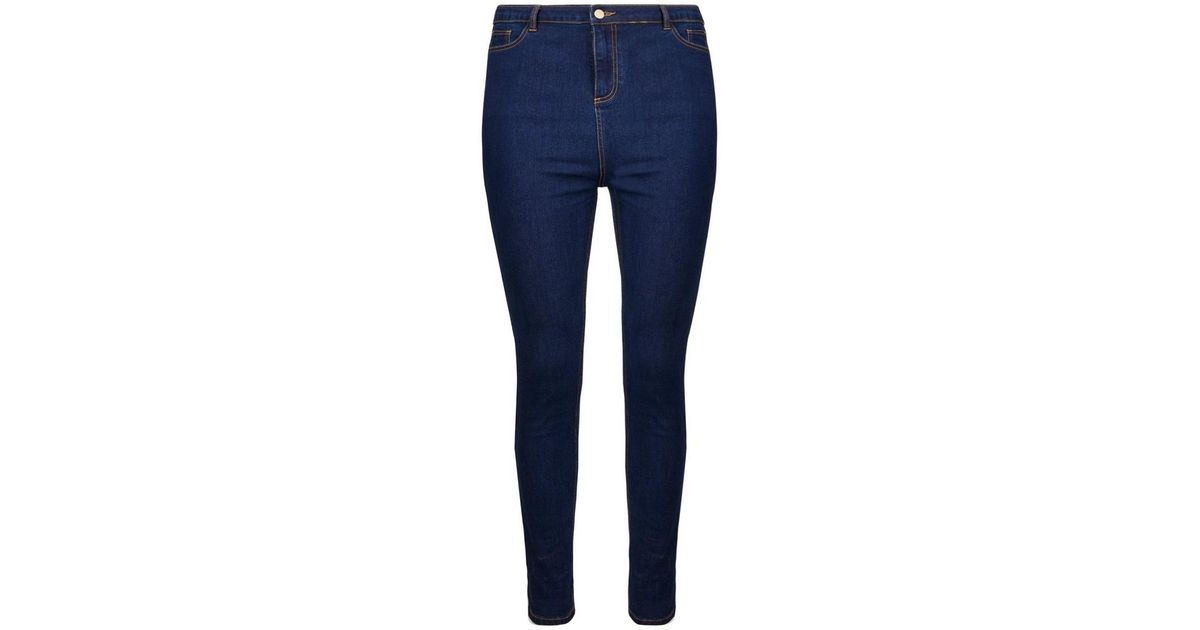 a93145c709f06 Lyst - Dorothy Perkins Dp Curve Indigo High Waisted Skinny Fit Denim   disco  Jeans in Blue