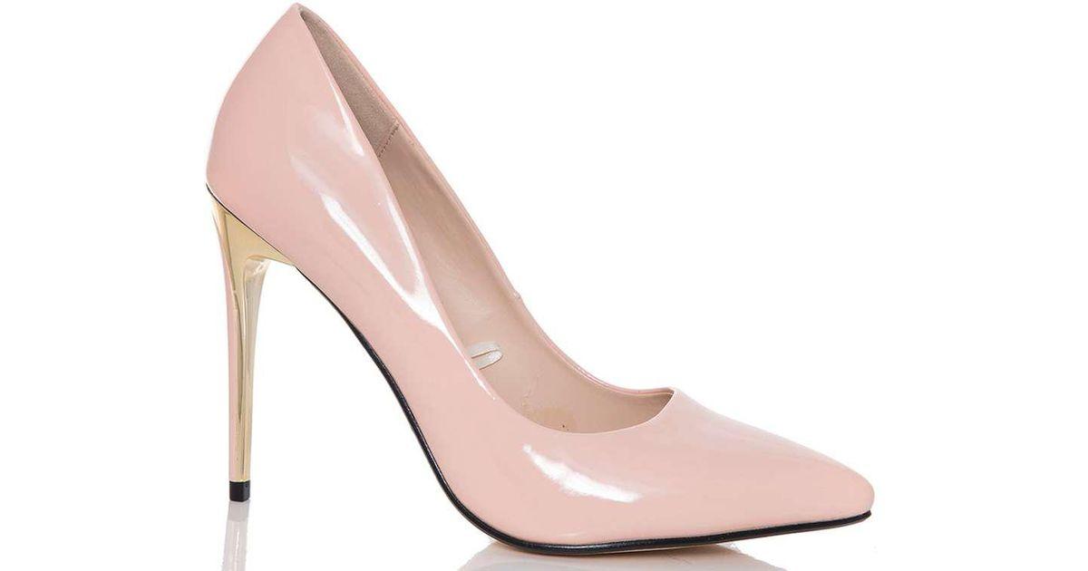 88ecfeaa5fe Dorothy Perkins Quiz Pink Patent High Heel Court Shoes