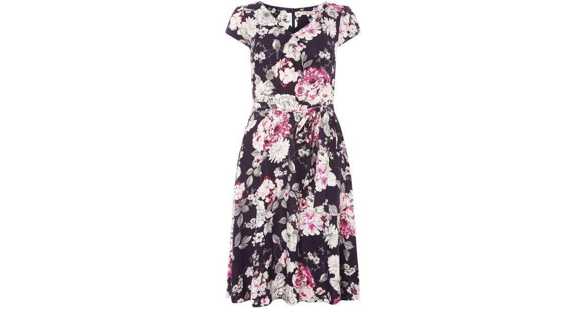 Dorothy perkins billie blossom tall navy floral print. Navy Floral In Midi  Skater Dress ... fc227d9c8