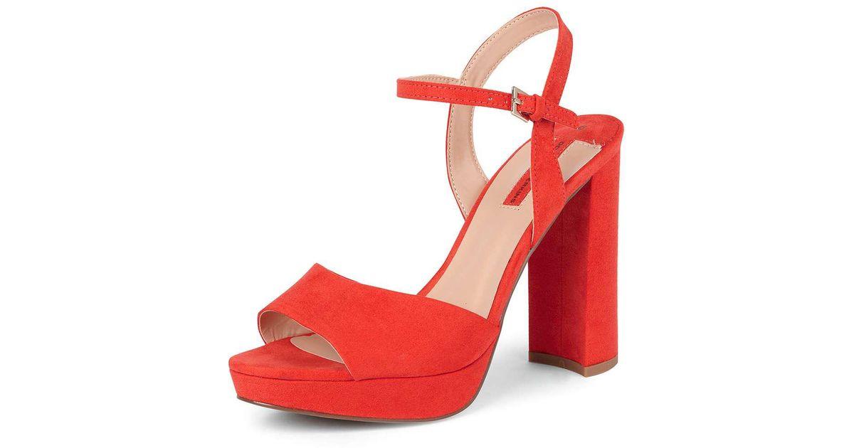 a40ac071f0c Lyst - Dorothy Perkins Coral  sicily  Platform Sandals