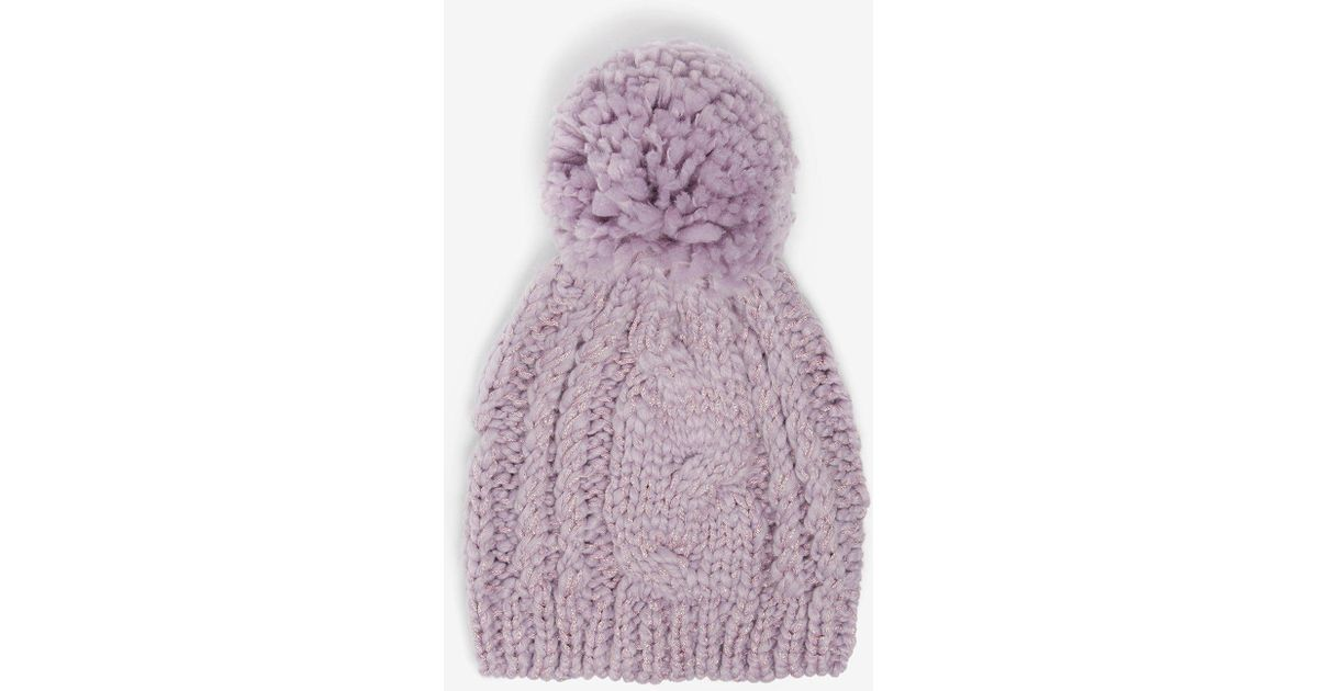 Dorothy Perkins Lilac Cable Beanie Hat in Purple - Lyst fe676d7bed6