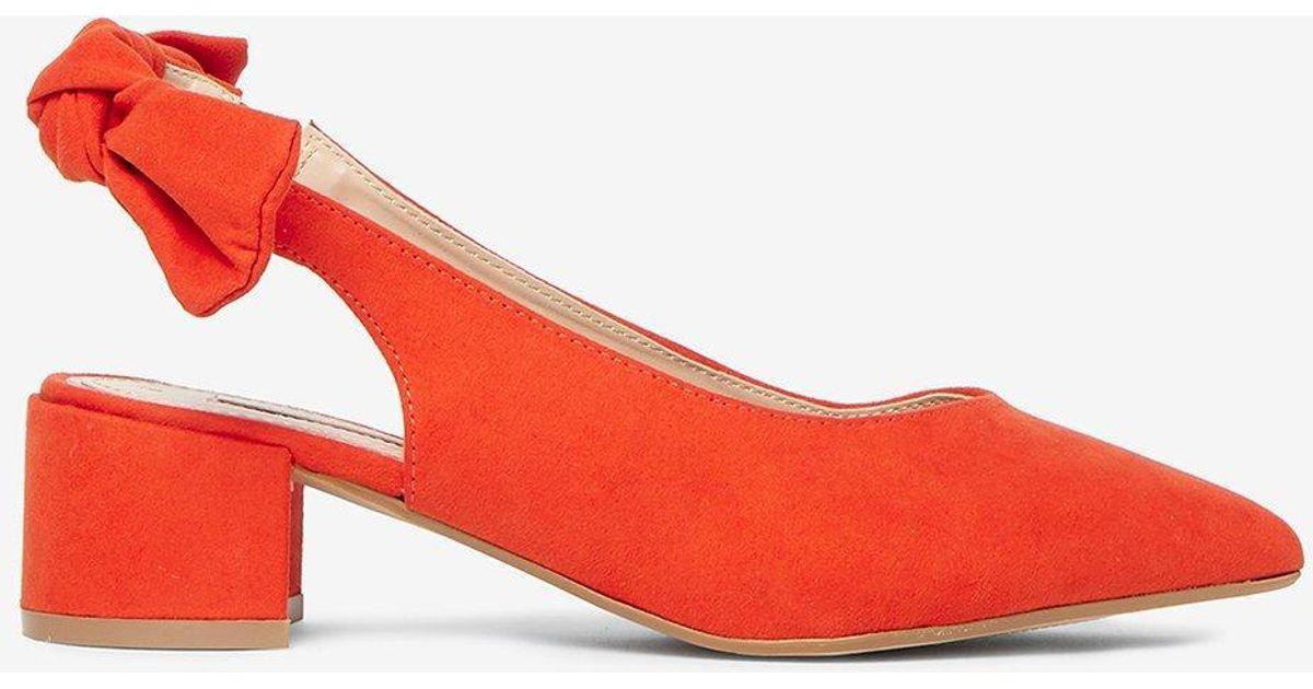 Orange 'gossip' Bow-tied Court Shoes - Lyst