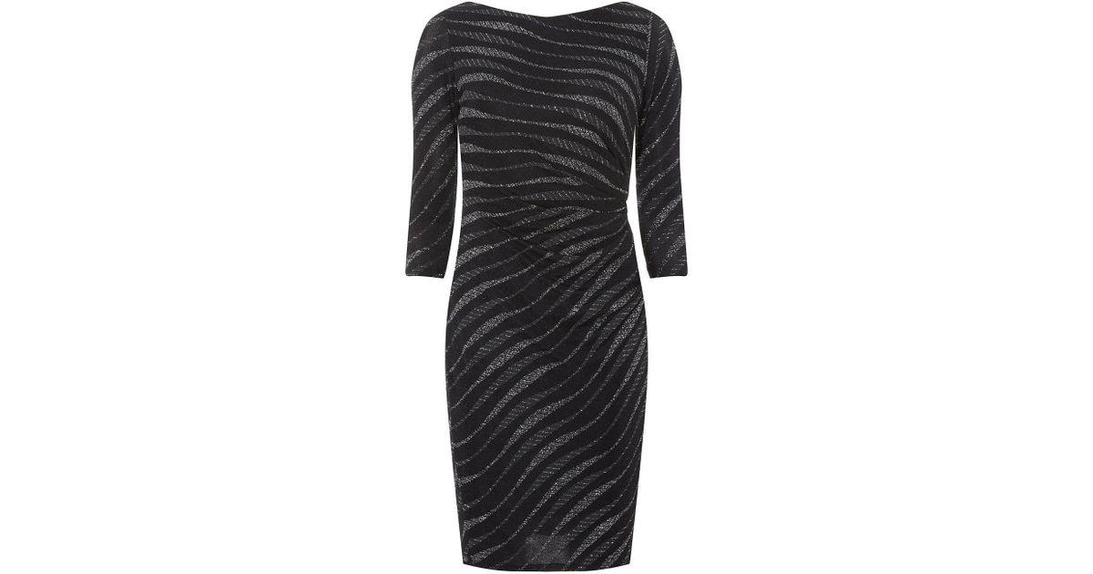 Lyst - Dorothy Perkins Billie   Blossom Black Petite Zebra Print Bodycon  Dress in Black 932f3dba0