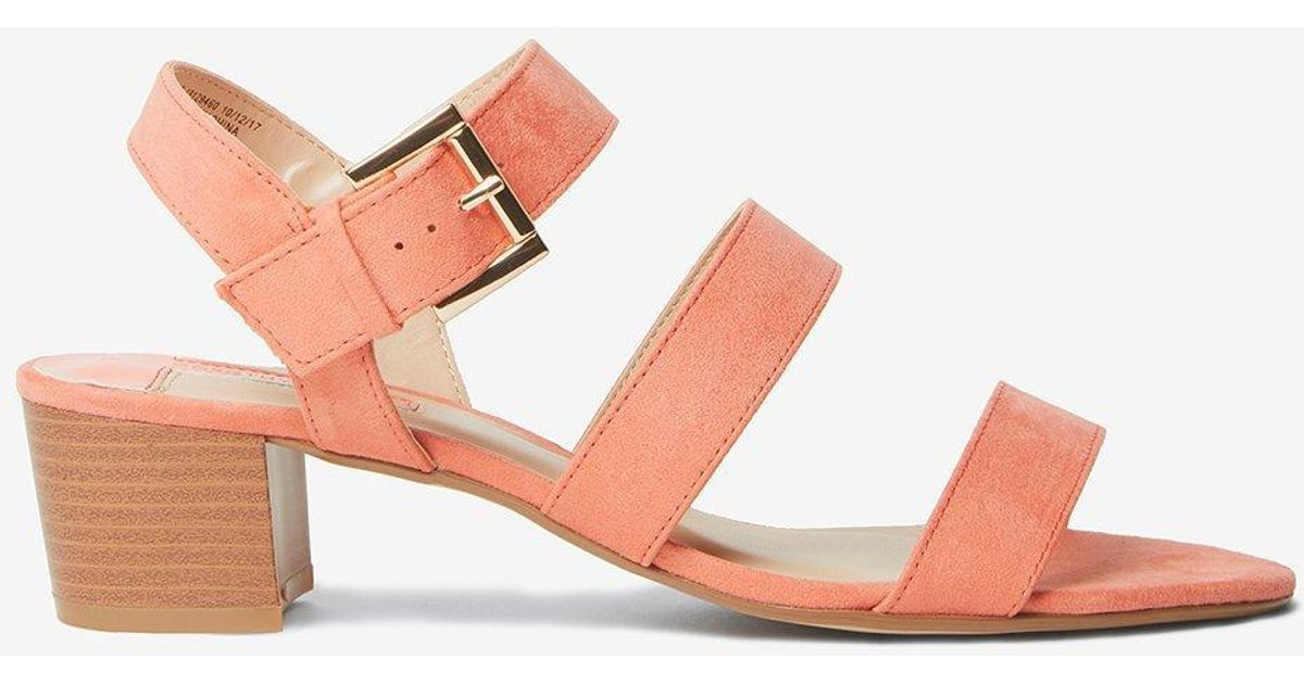 ede240d655 Lyst - Dorothy Perkins Coral 'savana' Strappy Sandals in Pink