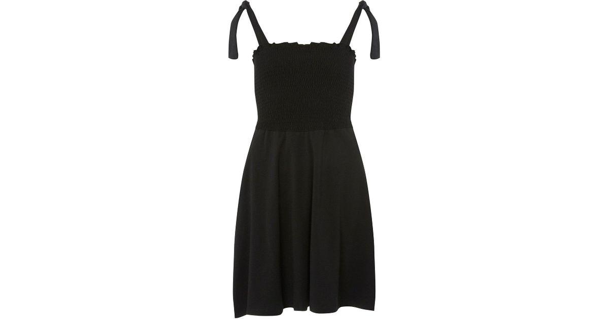 b93d8db1ba Lyst - Dorothy Perkins Black Sheered Skater Sundress in Black