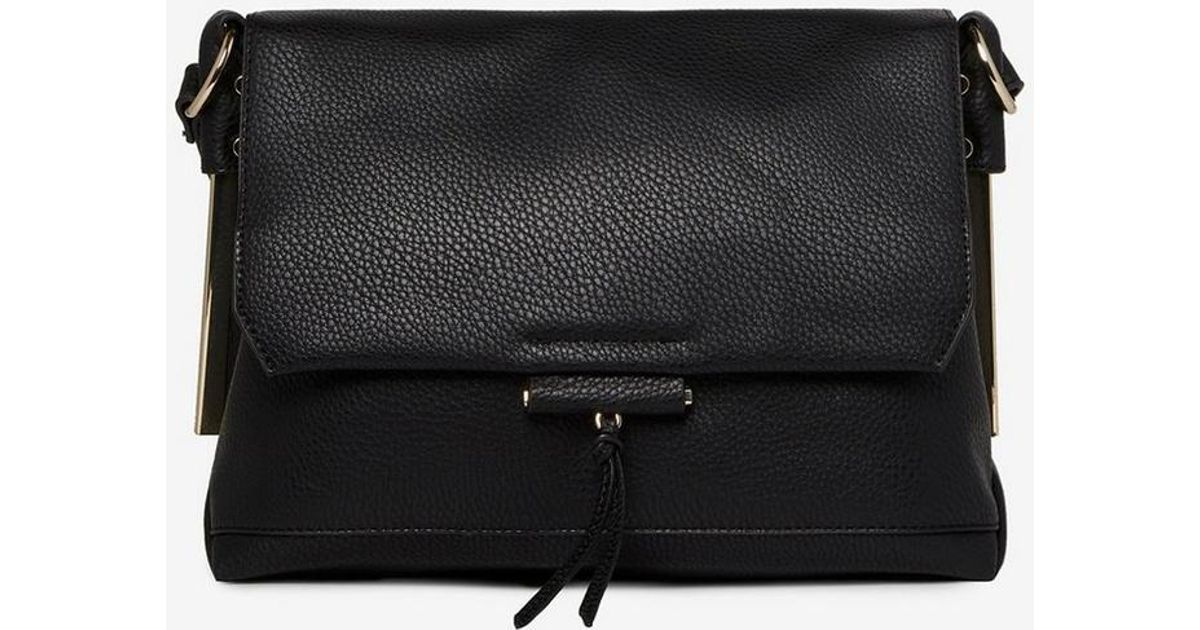 Dorothy Perkins Black Metal Side Cross Body Bag in Black - Save 32% - Lyst 215c6753c7f4b