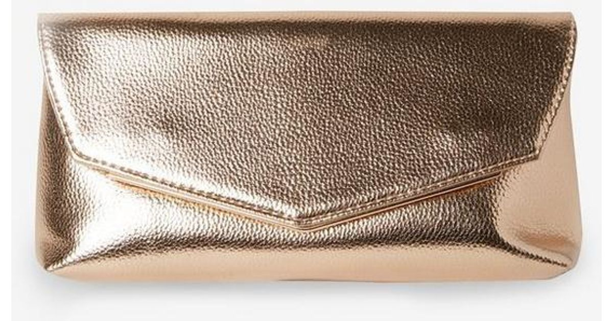 Dorothy Perkins Rose Gold Metal Bar Clutch Bag in Metallic - Lyst c9e8967039