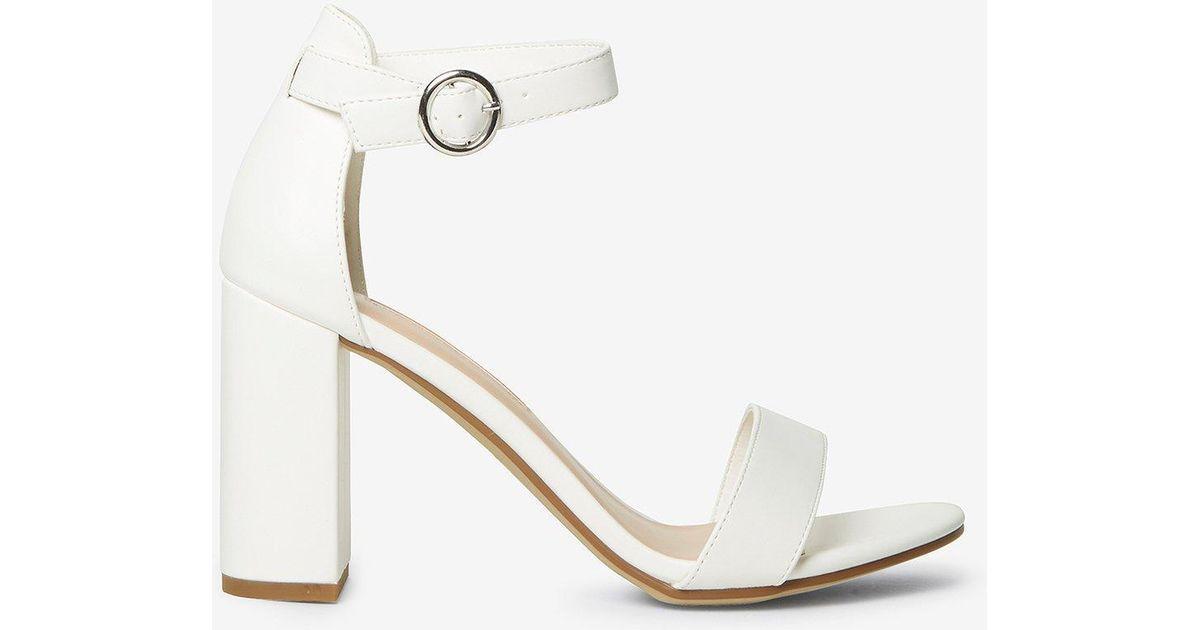 shimmy' Block Heel Sandals - Lyst