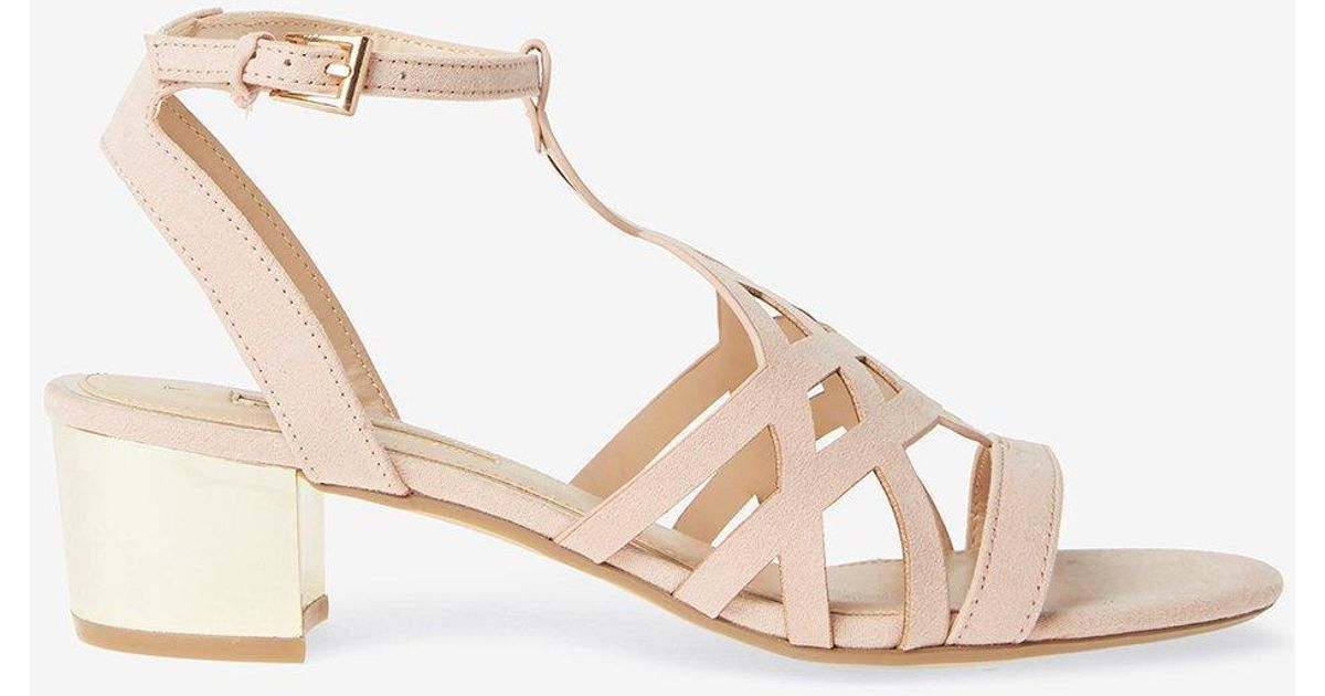 c95aacb27b3 Dorothy Perkins - White Nude 'sarah' Heeled Sandals - Lyst
