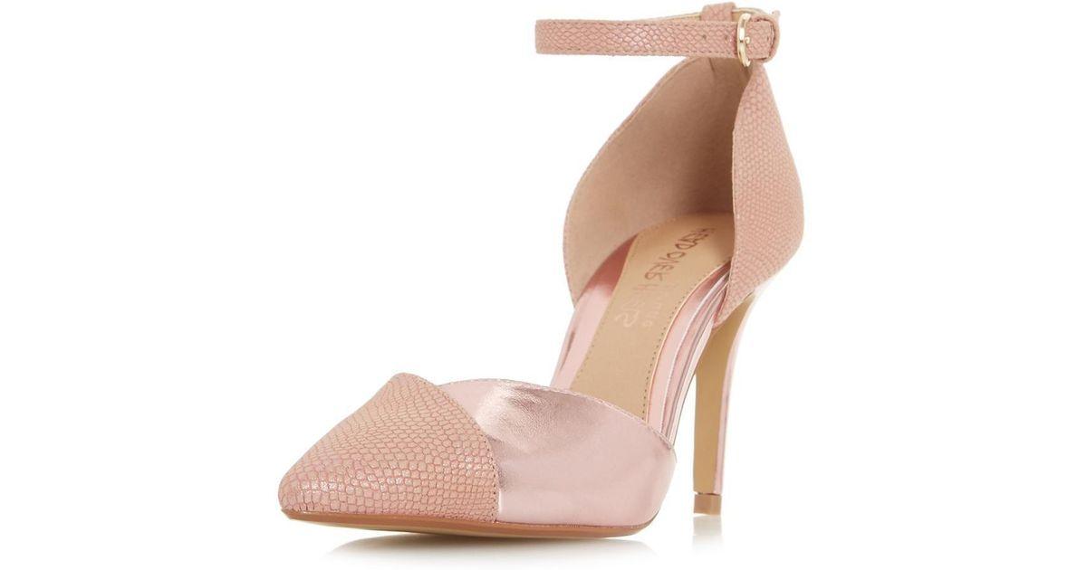 541ca6758d9 Dorothy Perkins Head Over Heels By Dune Pink 'cersey' Ladies Shoes