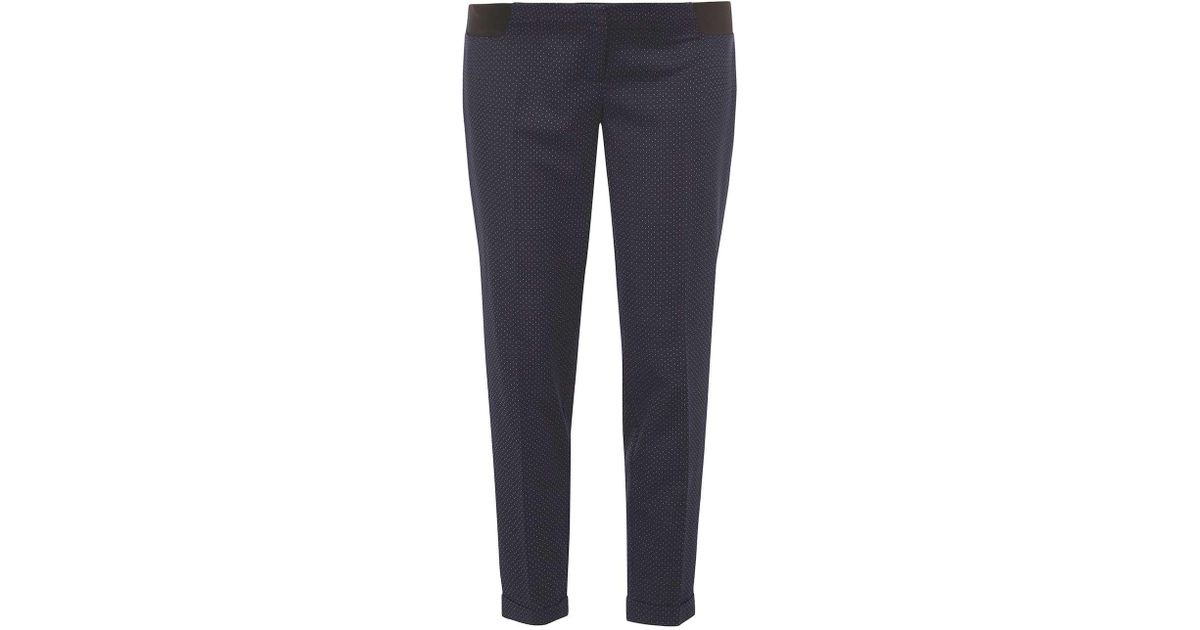 8e9ca916ae687 Lyst - Dorothy Perkins Maternity Navy Blue Spotted Straight Leg Trousers in  Blue
