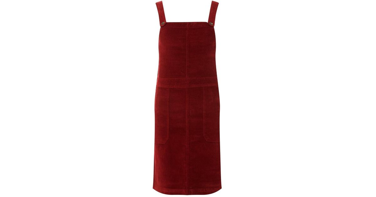 0c94daac5da Dorothy Perkins Berry Red Corduroy Pinafore Dress in Red - Lyst