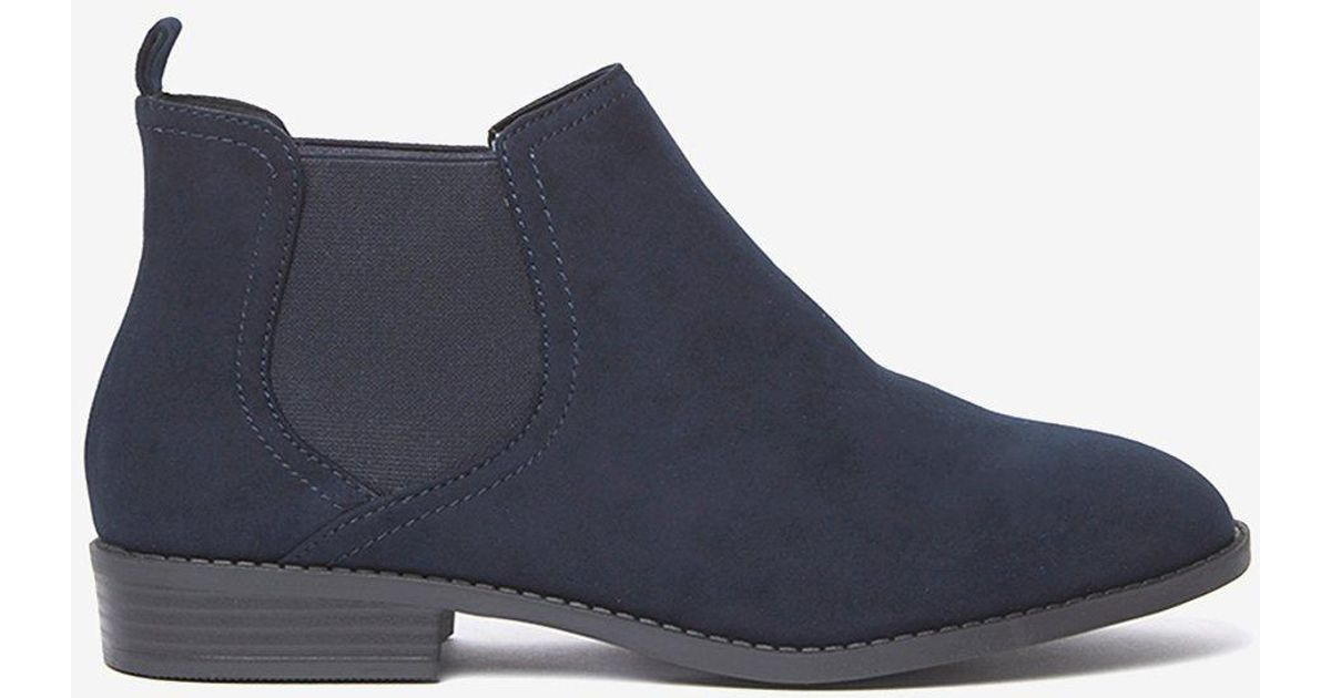 21c6109a667f Dorothy Perkins Wide Fit Navy 'moon' Boots in Blue - Lyst