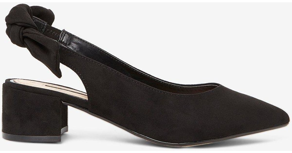 c2167410a30 Lyst - Dorothy Perkins Black  gossip  Bow Slingback Court Shoes in Black
