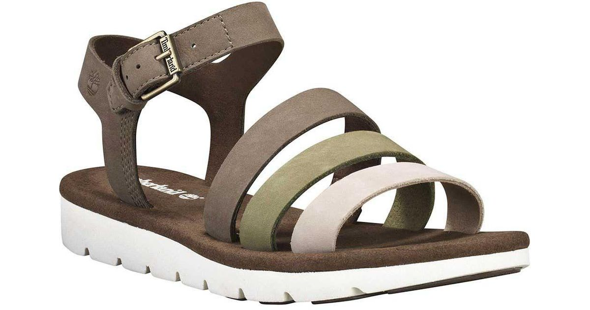 Planificado Accesible virtud  Timberland Leather Lottie Lou 3-band Wide in Brown - Lyst