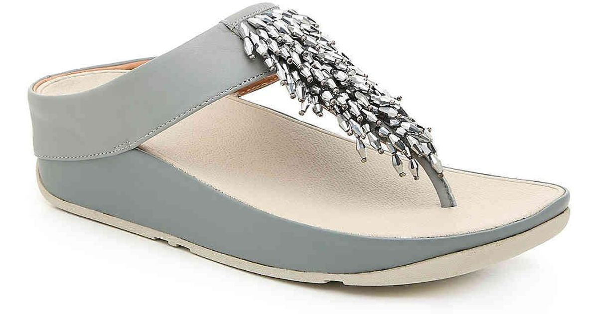 Fitflop Leather Rumba Wedge Sandal - Lyst