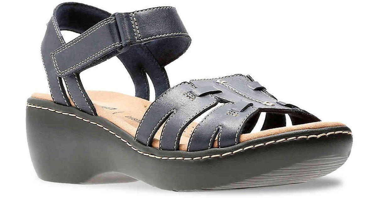 6b7b85ccd21c Lyst - Clarks Delana Nila Wedge Sandal in Blue