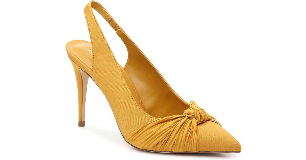 Aldo Yellow Areania Pump Yellow Heels Dsw Shoes