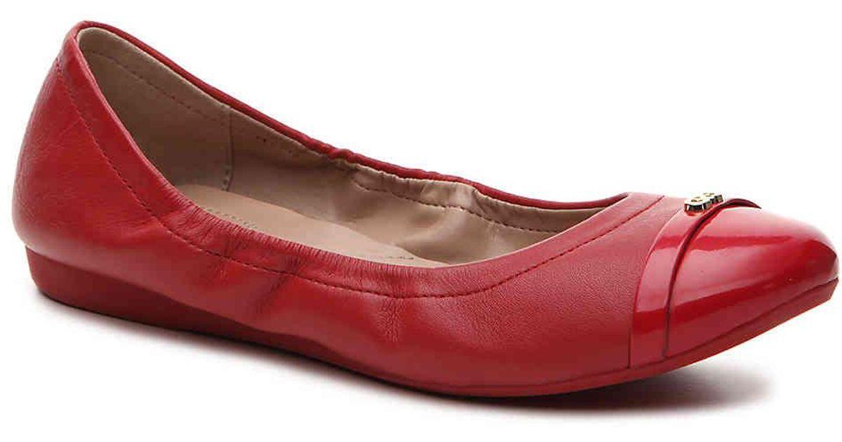 2b93313aa Cole Haan Elsie Ballet Flat in Red - Lyst