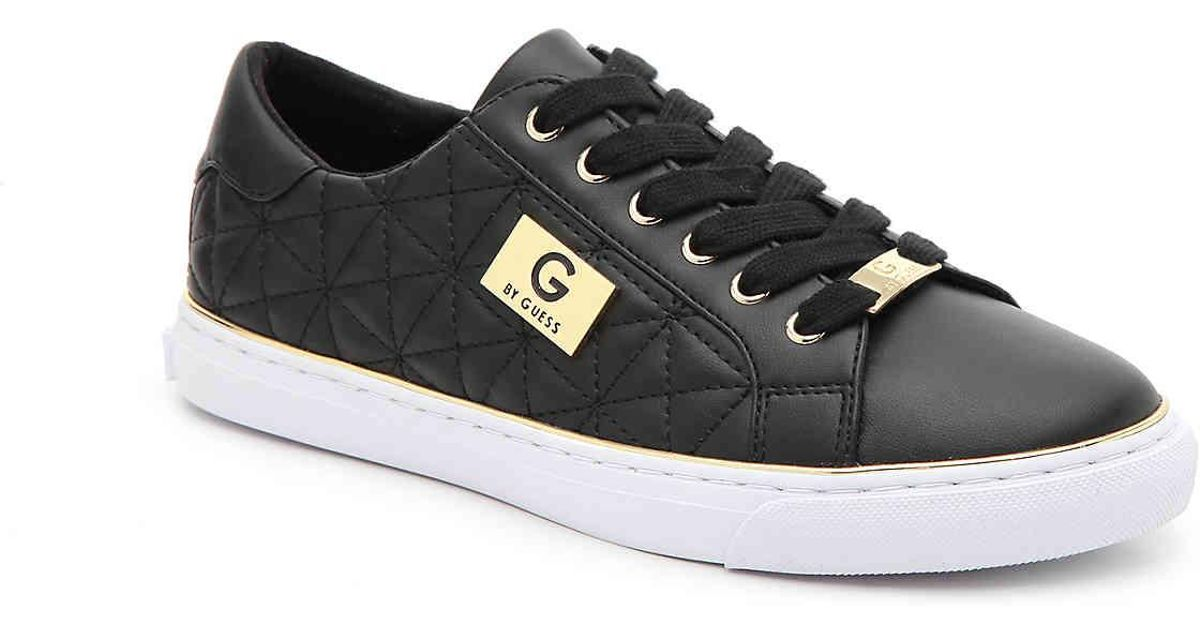 Office Quilted Sneaker in Black