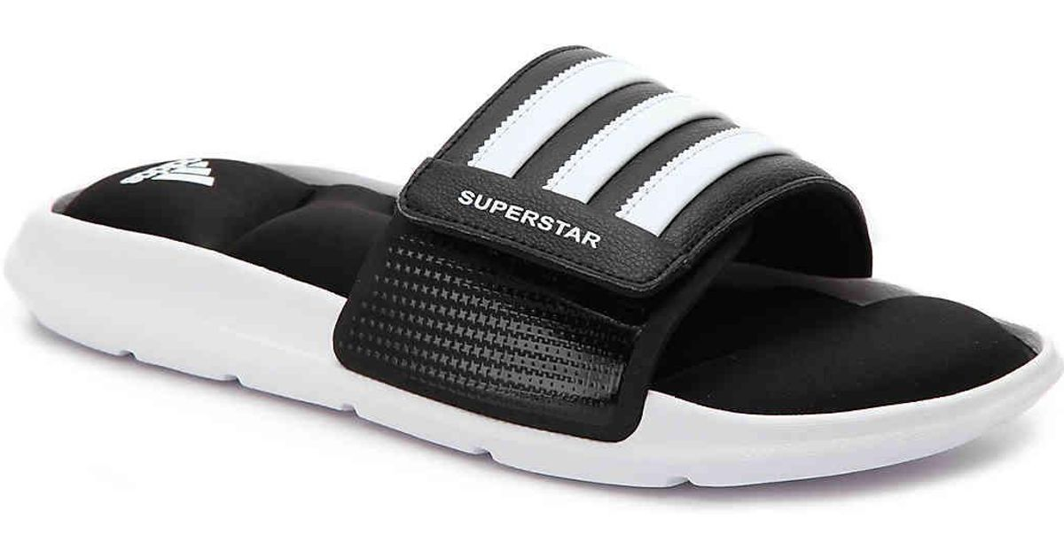 super popular 3dcc9 76d69 Adidas Black Superstar 5g Slide Sandal for men