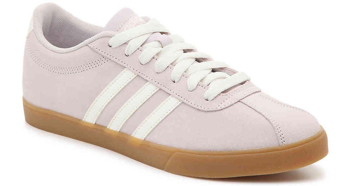 adidas Denim Courtset Sneaker in Lilac