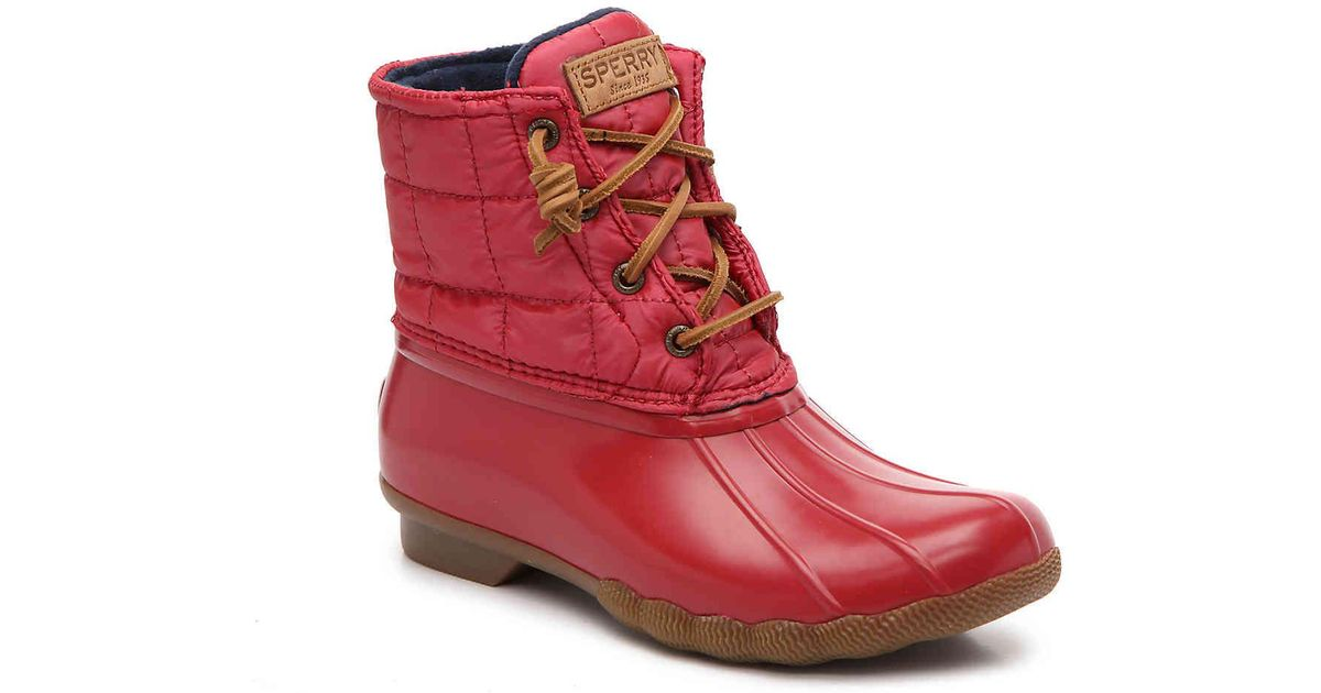 Saltwater Shiny Quilted Duck Boot