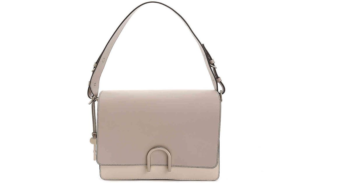 00c16593c68e Fossil Finley Leather Shoulder Bag in Gray - Lyst