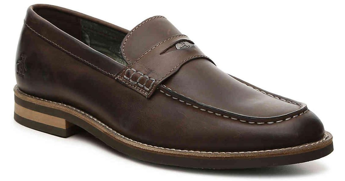 befac6aaccf Lyst - Original Penguin Benson Penny Loafer in Brown for Men