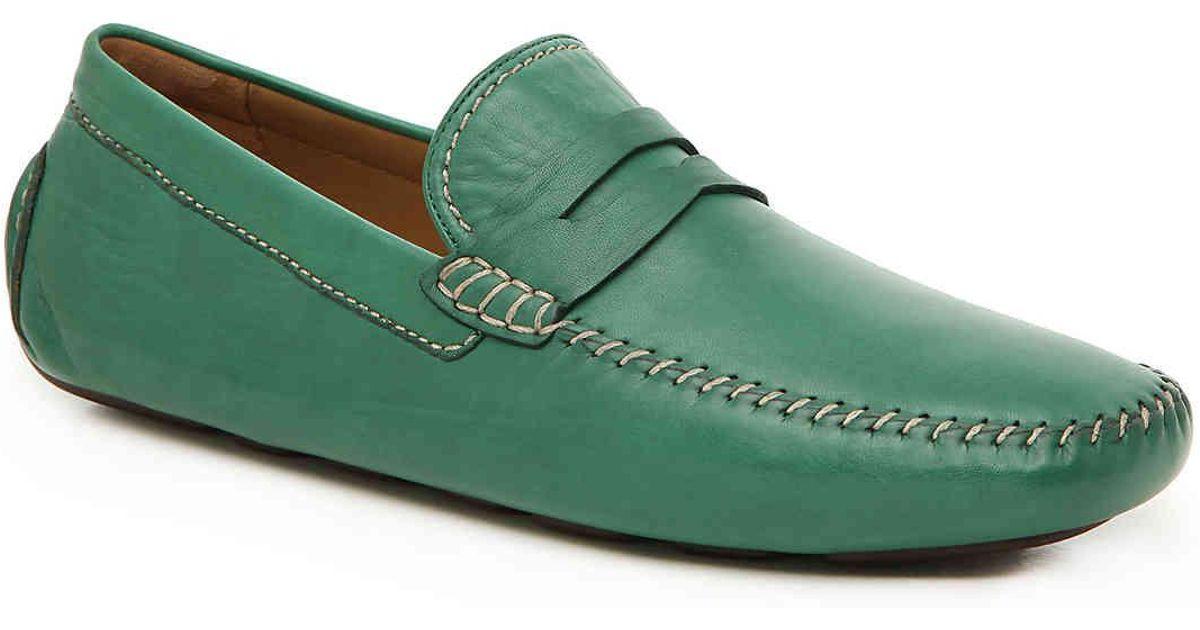 18b618a745c Lyst - Robert Zur Hugo Penny Loafer in Green for Men