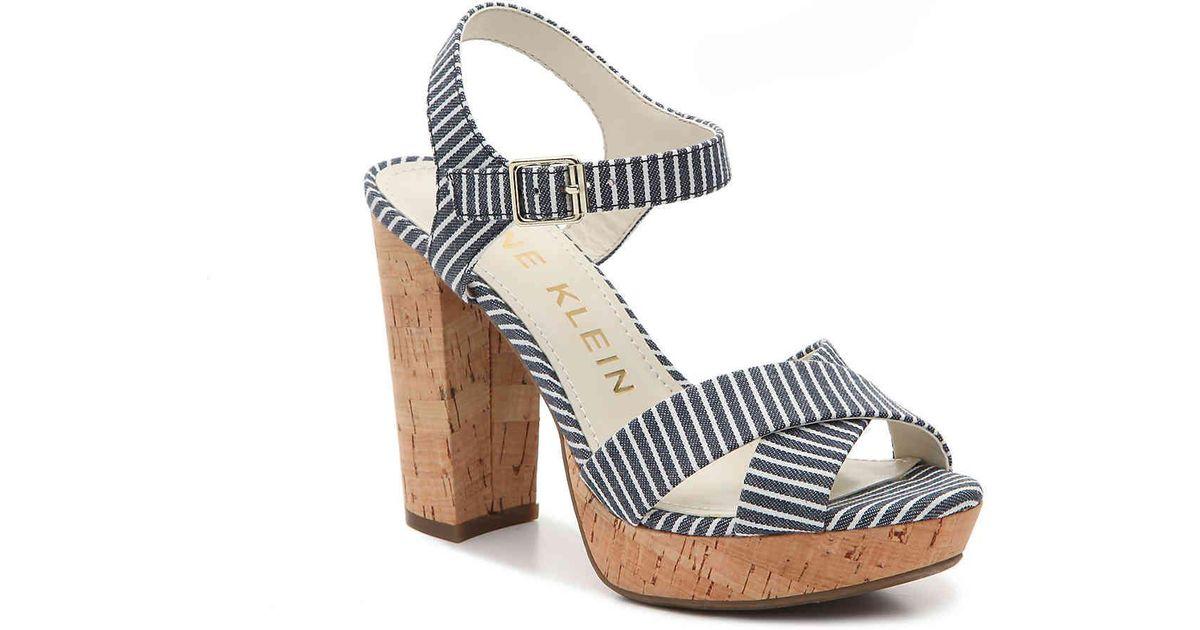 Anne Klein Lalima Platform Sandal In Blue Lyst