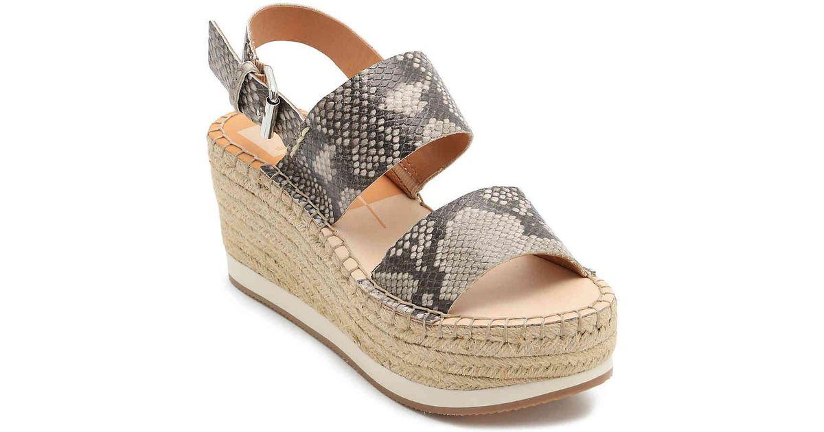 54ec357792a30 Dolce Vita Gray Mauri Espadrille Wedge Sandal