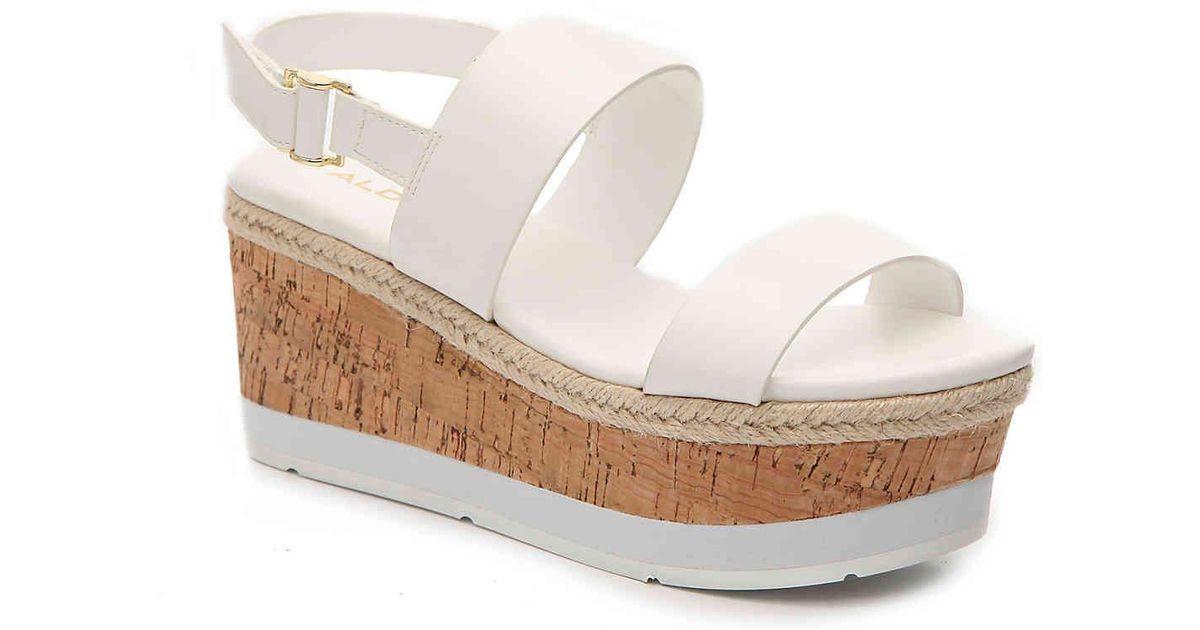 0e76a3a5917 ALDO White Erillan Espadrille Wedge Sandal