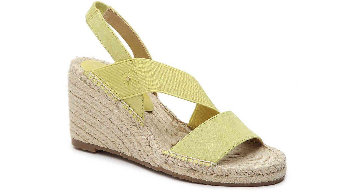 2308f43c156 Adrienne Vittadini Yellow Crete Espadrille Wedge Sandal