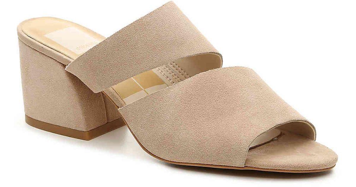 Lyst - Dolce Vita Lyndie Suede Sandals in Natural