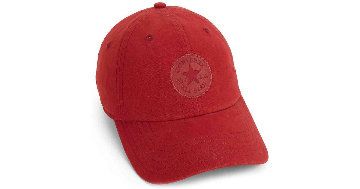 aebbce90f Converse Red Chuck Taylor All Star Monotone Core Baseball Cap