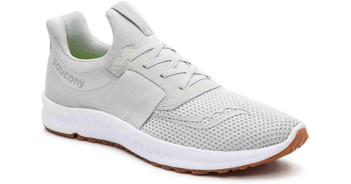 4d98d04baa37d Saucony White Stretch & Go Breeze Lightweight Slip-on Running Shoe for men